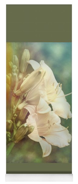 Yoga Mat featuring the photograph Dreamy Lilies by Leda Robertson