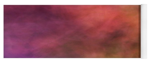 Dreamy Soft Flowing Pastel Abstract Background With Red. Pink, Purple, Blue And Green Shapes Yoga Mat