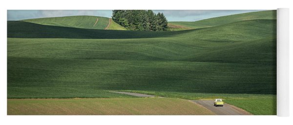 Drive In The Palouse Yoga Mat