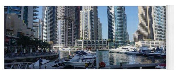 Yoga Mat featuring the photograph Dubai Marina by Jimmy Clark