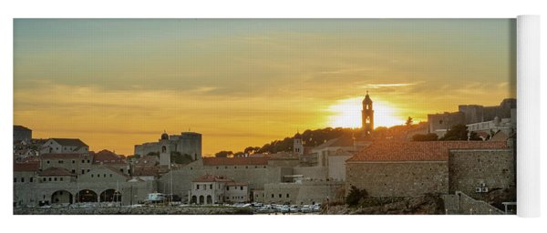 Dubrovnik Old Town At Sunset Yoga Mat