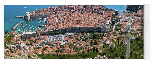 Dubrovnik Panorama From The Hill Yoga Mat