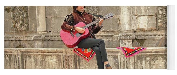 Dubrovnik Street Musician Yoga Mat