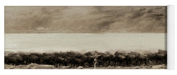 Yoga Mat featuring the photograph Dust Of The Migration by Kay Brewer