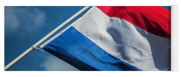 Yoga Mat featuring the photograph Dutch Flag by Anjo Ten Kate