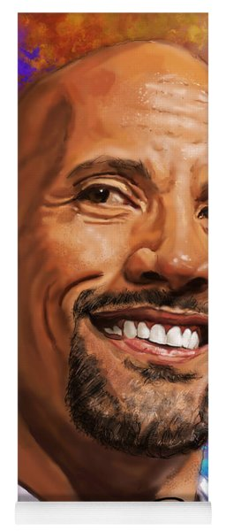 Dwayne The Rock Johnson  Yoga Mat