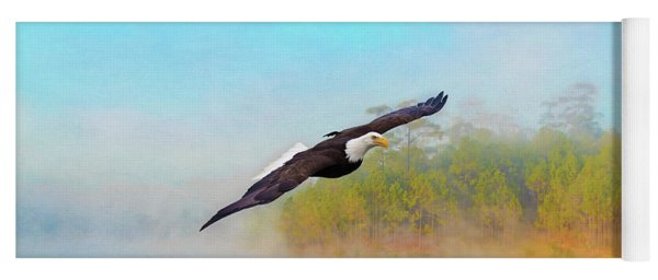 Eagle Out Of The Mist Yoga Mat