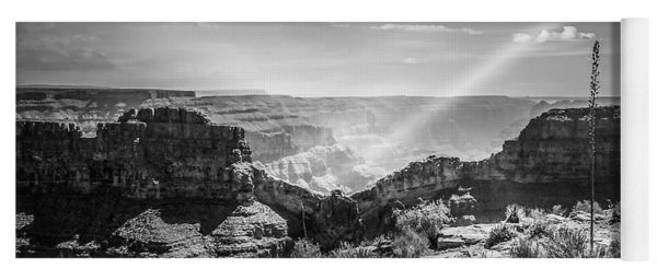 Eagle Rock, Grand Canyon In Black And White Yoga Mat