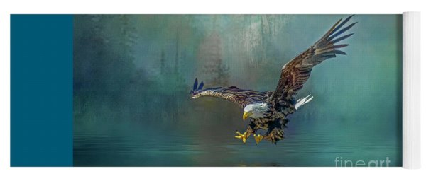 Eagle Swooping For Fish Yoga Mat