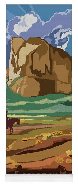 Eagle Tail Mountains Wilderness Arizona Travel Poster Yoga Mat
