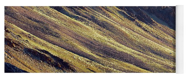 Early Morning Light On The Hillside In Sarchu Yoga Mat