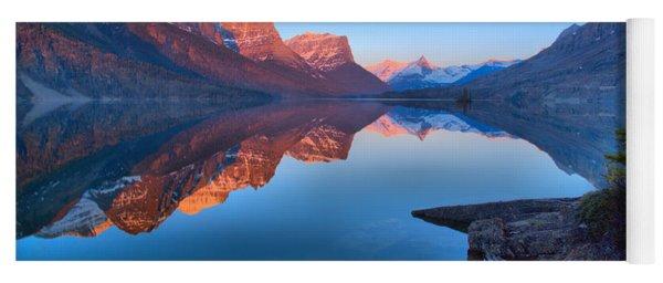 East Glacier St Mary Spring Sunrise Yoga Mat