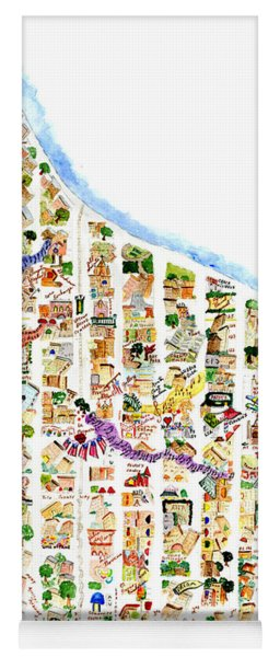 East Harlem Map Yoga Mat