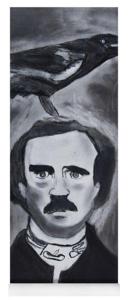 Edgar Allen Poe Drawing Yoga Mat