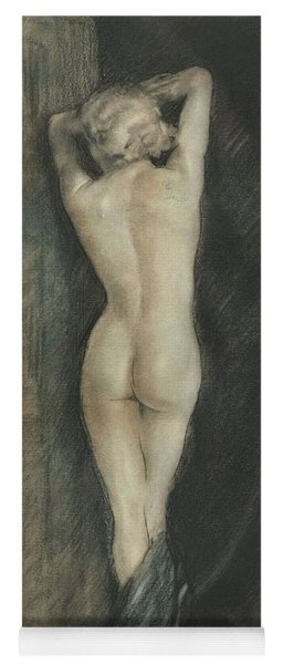 Edouard Chimot Nude In Boudoir  Yoga Mat