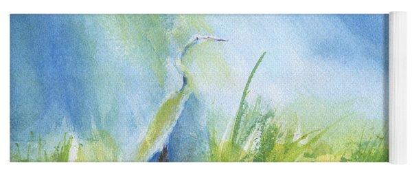 Egret In Sunlight Yoga Mat