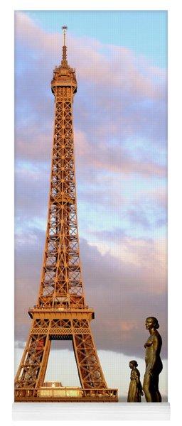 Eiffel Tower At Sunset Yoga Mat