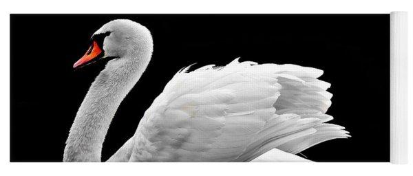 Elegant Swan Yoga Mat