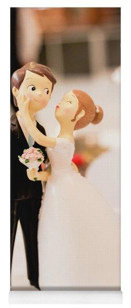 Elegant Wedding Cake Dolls Yoga Mat