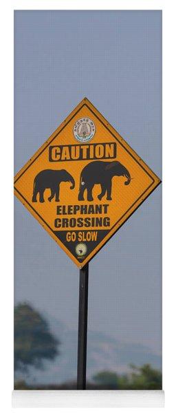 Elephant Crossing Yoga Mat