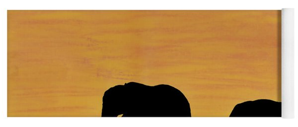Elephants - At - Sunset Yoga Mat