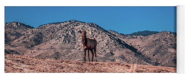 Elk On A Hill Yoga Mat