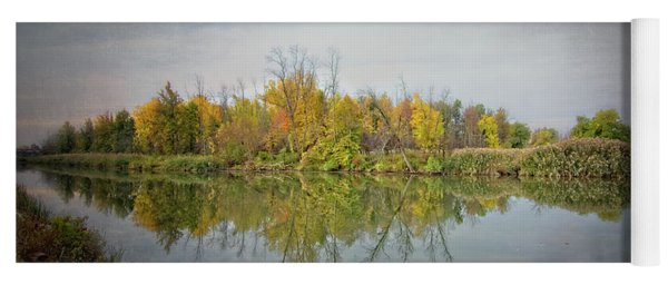 Yoga Mat featuring the photograph Ellicott Creek Reflections by Guy Whiteley