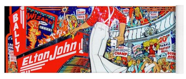 Elton John Pinball Wizard Yoga Mat