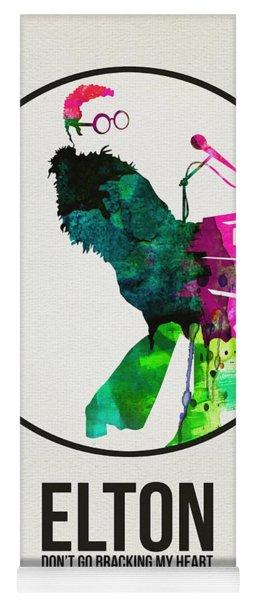 Elton Watercolor Poster Yoga Mat