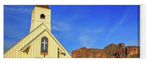 Elvis Chapel At Apacheland, Superstition Mountains Yoga Mat
