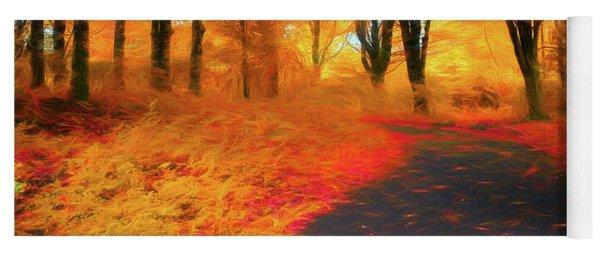 Emmaus Community Park Path - Colors Of Fall Yoga Mat