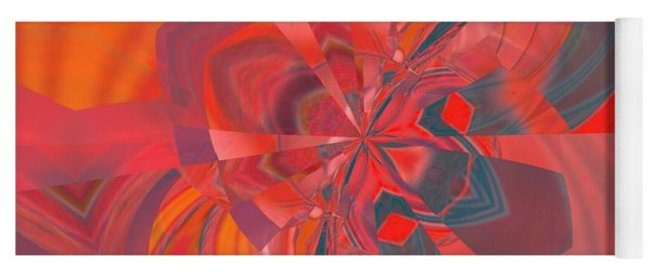 Yoga Mat featuring the digital art Emotion by A zakaria Mami