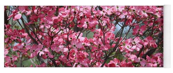 Enchanted Pink Dogwood Tree Yoga Mat