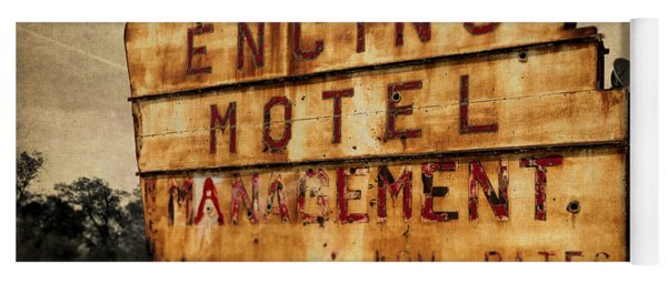 Yoga Mat featuring the photograph Encino Hotel by Lou Novick