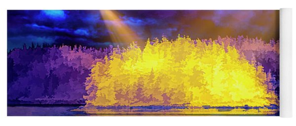 Yoga Mat featuring the photograph Encounter by Mike Braun
