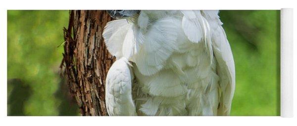 Endangered White Cockatoo Yoga Mat