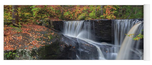Yoga Mat featuring the photograph Enders Falls Autumn 2 by Bill Wakeley