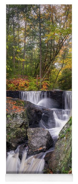 Yoga Mat featuring the photograph Enders Falls Autumn 2018 by Bill Wakeley