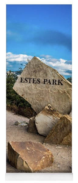 Entrance To Estes Park Yoga Mat