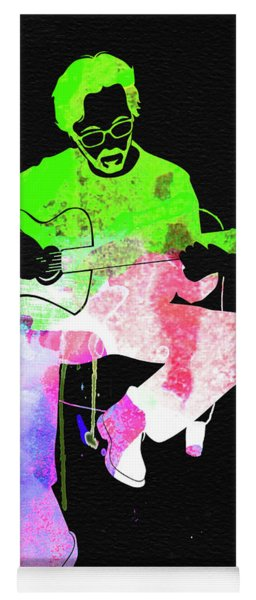Eric Clapton Stone Watercolor Yoga Mat