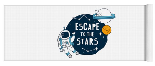 Escape To The Stars - Baby Room Nursery Art Poster Print Yoga Mat