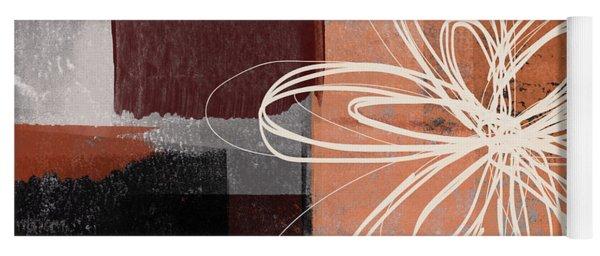 Espresso Flower 1-  Art By Linda Woods Yoga Mat