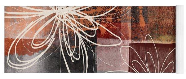 Espresso Flower 2- Art By Linda Woods Yoga Mat