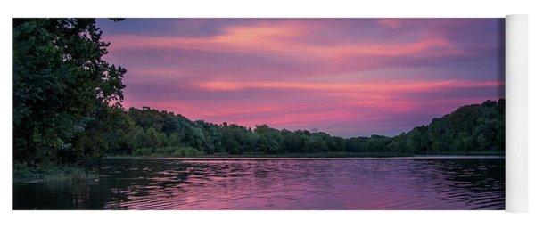 Evening At Springfield Lake Yoga Mat
