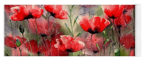 Everything About Poppies Yoga Mat