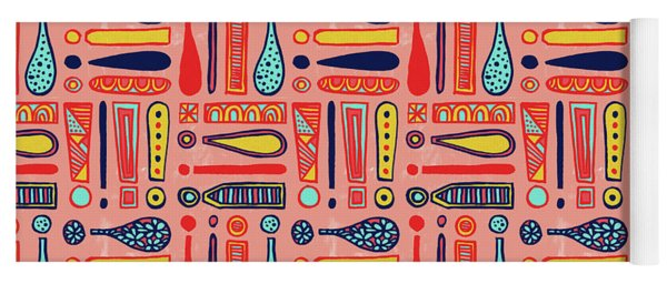 Exclamations Pattern Yoga Mat