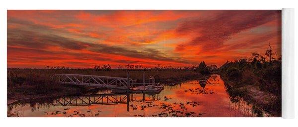 Explosive Sunset At Pine Glades Yoga Mat