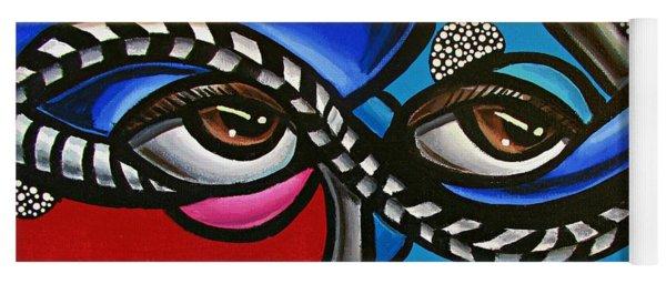 Eye Art Painting Abstract Chromatic Painting Electric Energy Artwork Yoga Mat
