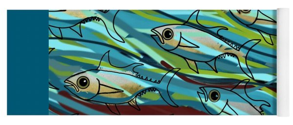 F Is For Fish Yoga Mat