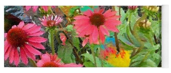 Fairy Among The Flowers Yoga Mat